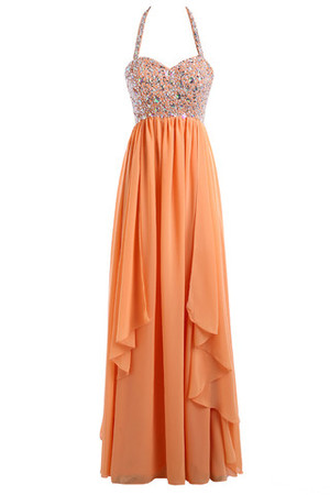 Colorful Strapless Princess Floor Length Sweep Train Prom Dress