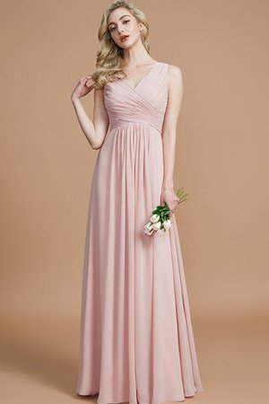 Ruched A-Line Zipper Up Sleeveless Bridesmaid Dress