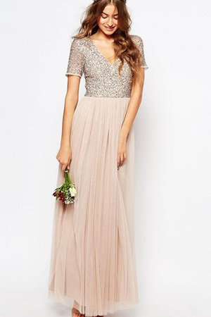 Informal & Casual Elegant & Luxurious A-Line Simple Sequins Bridesmaid Dress
