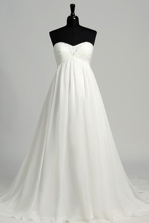 Sweetheart Beach Informal & Casual Simple Pleated Wedding Dress