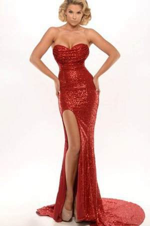 Sequined Sleeveless Sequins Natural Waist Long Evening Dress
