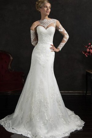 Modest Lace Sweetheart Simple A-Line Wedding Dress