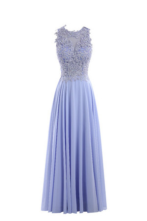 Sequined Long A-Line Chic & Modern Vintage Evening Dress