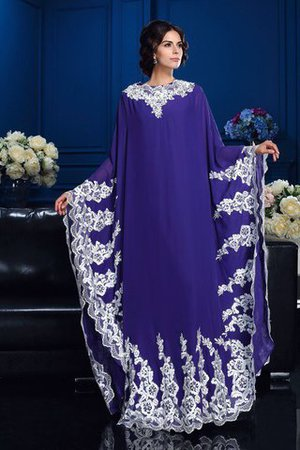 Chiffon Natural Waist Appliques Long Sleeves Princess Mother Of The Bride Dress