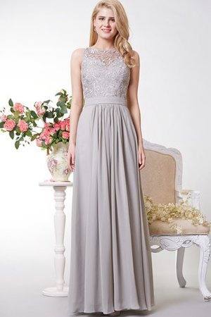 f955b10f4ce Keyhole Back Floor Length Pleated A-Line Sleeveless Prom Dress