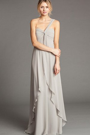Chiffon Elegant & Luxurious Sexy One Shoulder Draped Bridesmaid Dress