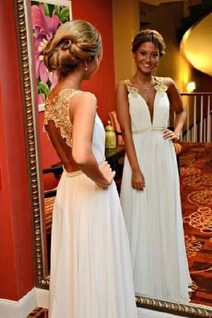 V-Neck Long Zipper Up Sweetheart A-Line Prom Dress