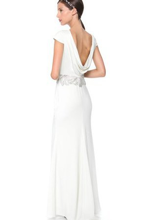 Beading Capped Sleeves Informal & Casual Sequined Sashes Wedding Dress