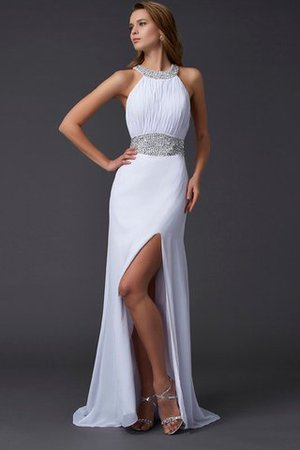 Long Natural Waist Sweep Train Sleeveless Princess Prom Dress