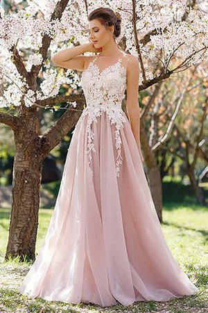 Sleeveless Jewel A-Line Natural Waist Evening Dress