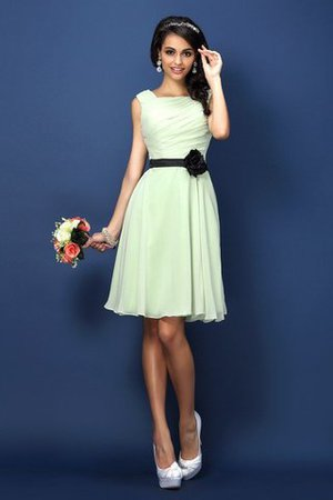 Sleeveless Chiffon Pleated Bateau Princess Bridesmaid Dress