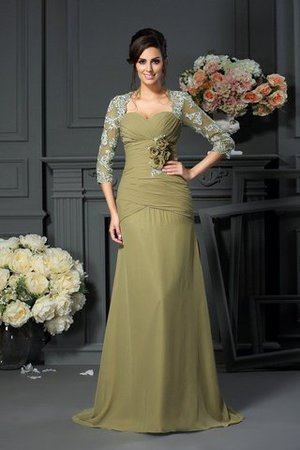 Sweetheart Princess Zipper Up Chiffon Long Mother Of The Bride Dress