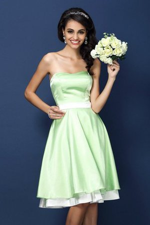 Short Princess Natural Waist Sleeveless Strapless Bridesmaid Dress