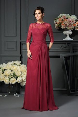 Chiffon A-Line Appliques Natural Waist Scoop Mother Of The Bride Dress