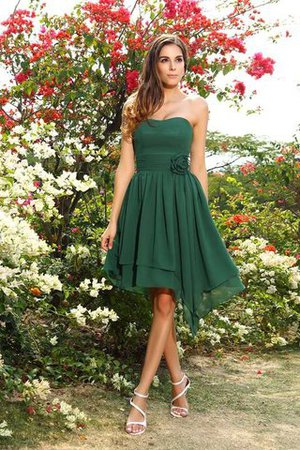 Sleeveless Zipper Up Princess Knee Length Bridesmaid Dress