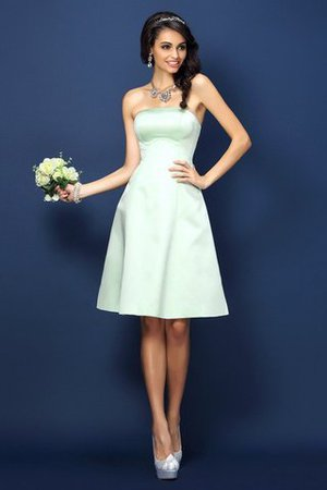 Natural Waist Princess Strapless Sleeveless Satin Bridesmaid Dress