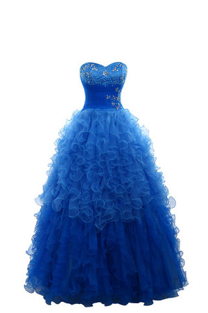 Multi Layer Tulle Floor Length A-Line Sweetheart Party Dress