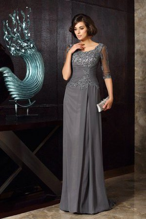 Half Sleeves A-Line Empire Waist Beading Mother Of The Bride Dress