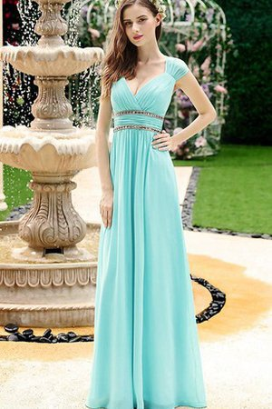 Sweetheart Capped Sleeves Keyhole Back Sequined Prom Dress