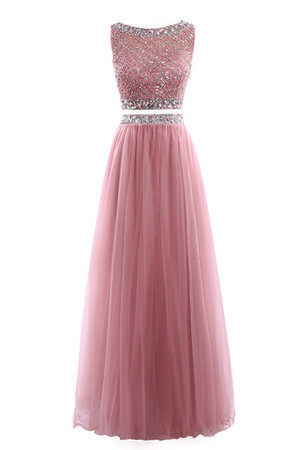 Sleeveless Crystal Multi Layer Outdoor Formal Prom Dress