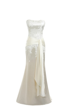 Vintage Floor Length Lace Lace-up Empire Waist Wedding Dress