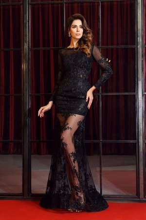 Empire Waist Long Bateau Zipper Up Lace Evening Dress