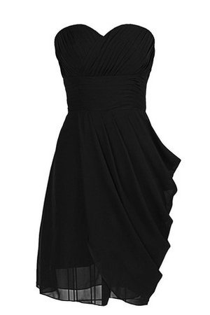 Chiffon Zipper Up Sleeveless Ruched A-Line Cocktail Dress