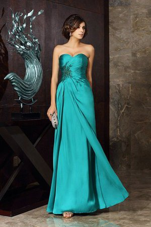Beading Sweetheart Sheath Appliques Floor Length Mother Of The Bride Dress