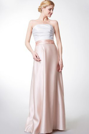 Satin Strapless Chic & Modern Long Backless Bridesmaid Dress
