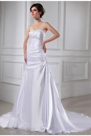 Sleeveless Elastic Woven Satin A-Line Appliques Wedding Dress