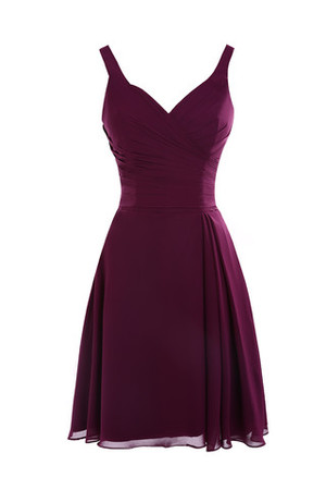 Backless Sexy Hall V-Neck Natural Waist Bridesmaid Dress