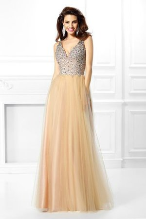 Sequined Long Satin Beading Natural Waist Quinceanera Dress