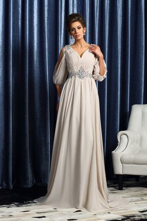 Sleeveless Empire Waist A-Line Beading Mother Of The Bride Dress