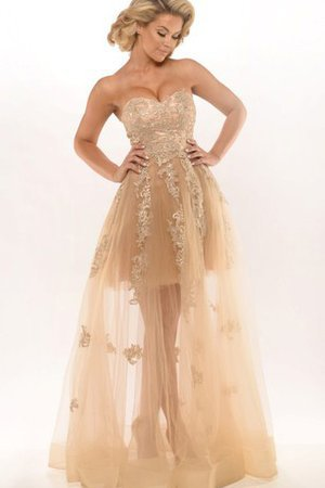 Sleeveless A-Line Tulle Floor Length Simple Evening Dress