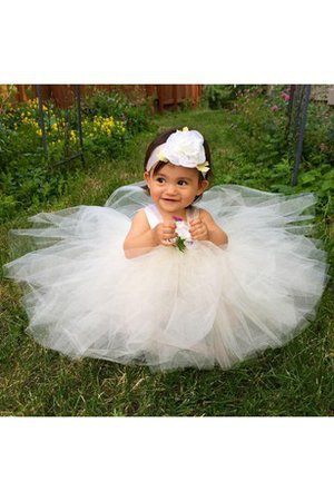 Ball Gown Sleeveless Knee Length Sashes Ruffles Flower Girl Dress