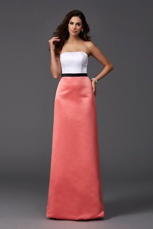 Floor Length Strapless A-Line Sleeveless Long Bridesmaid Dress