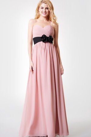Sleeveless Chiffon Elegant & Luxurious Flowers Bridesmaid Dress