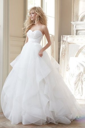 Organza A-Line Bubble Hem Misses Church Wedding Dress
