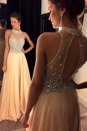 Sequined Simple Sleeveless Keyhole Back Sequins Evening Dress
