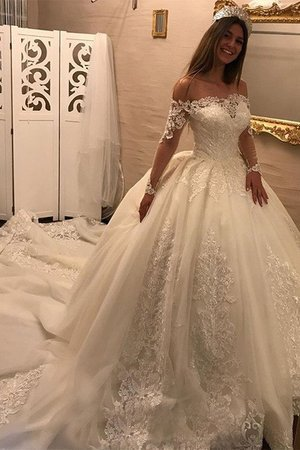 Tulle Floor Length Long Ball Gown Puffy Modest Wonderful Wedding Dress