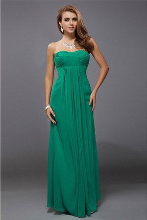 Chiffon Zipper Up Floor Length Empire Waist Ruffles Bridesmaid Dress