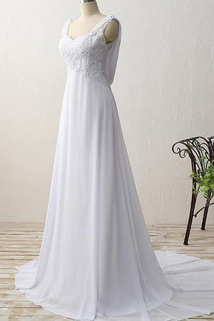 Informal & Casual Long Chiffon No Waist Sequined Wedding Dress