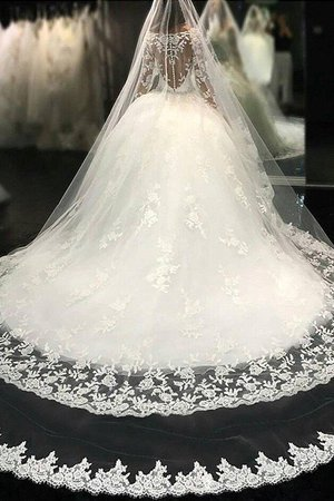 Apple Cathedral Train Exciting Beading Scoop Church Elegant & Luxurious Wedding Dress