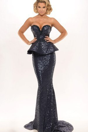 Floor Length Sequins Natural Waist Sheath Sequined Evening Dress