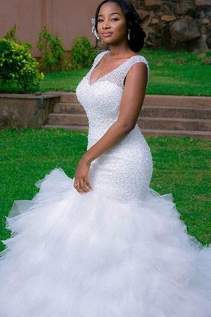 Cathedral Train Elegant & Luxurious Formal Beading Popular Chic & Modern Wedding Dress
