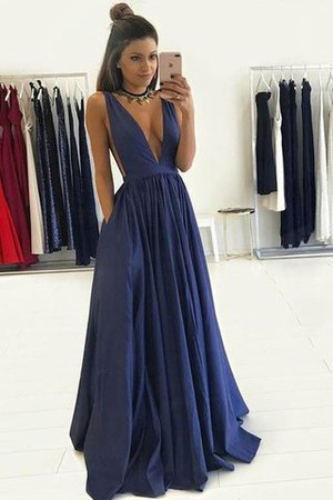 Taffeta V-Neck Floor Length Princess Natural Waist Evening Dress