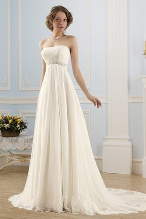 Pleated Chapel Train Floor Length Sexy Beach Wedding Dress