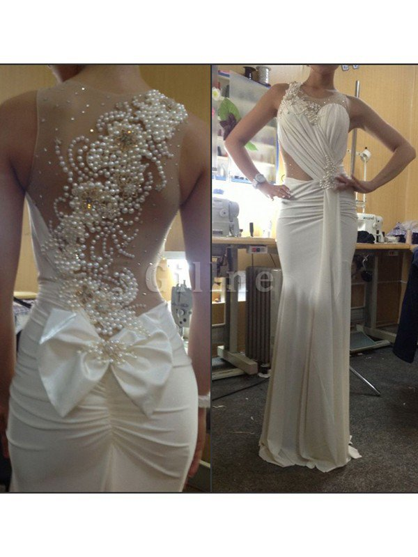 Rectangle Sweep Train Natural Waist Inverted Triangle Wedding Dress