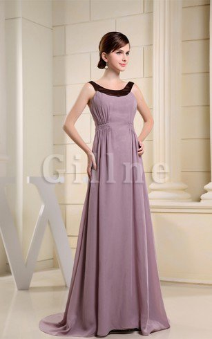 Sleeveless A-Line Chiffon Ruched Mother Of The Bride Dress
