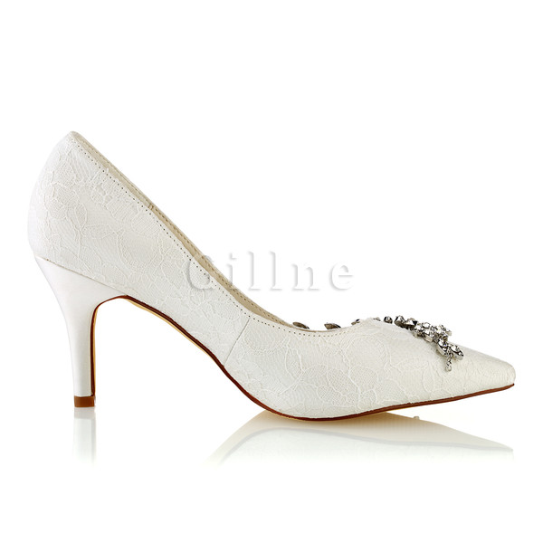 Drama Actual Heel Height 3.15 Inch Spring Summer Heels Bridal Shoe